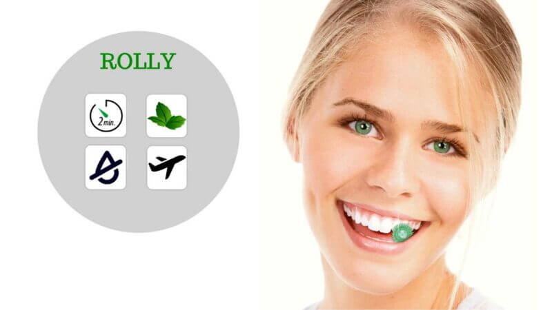 ⭐ ROLLY BRUSH: SPAZZOLINO DA DENTI INTELLIGENTE DA MASTICARE (PER OGNI OCCASIONE, NON SERVE ACQUA!)